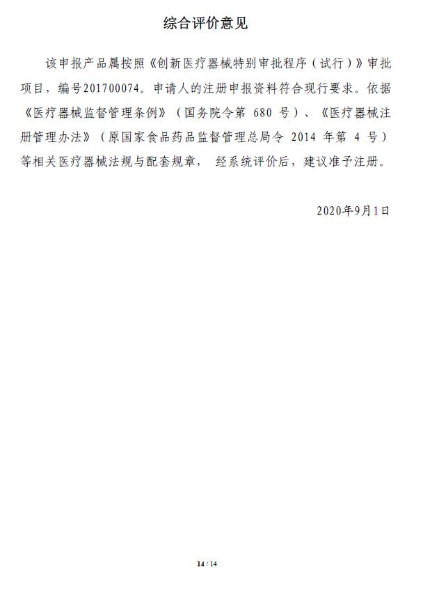 取栓支架注册技术审评报告14